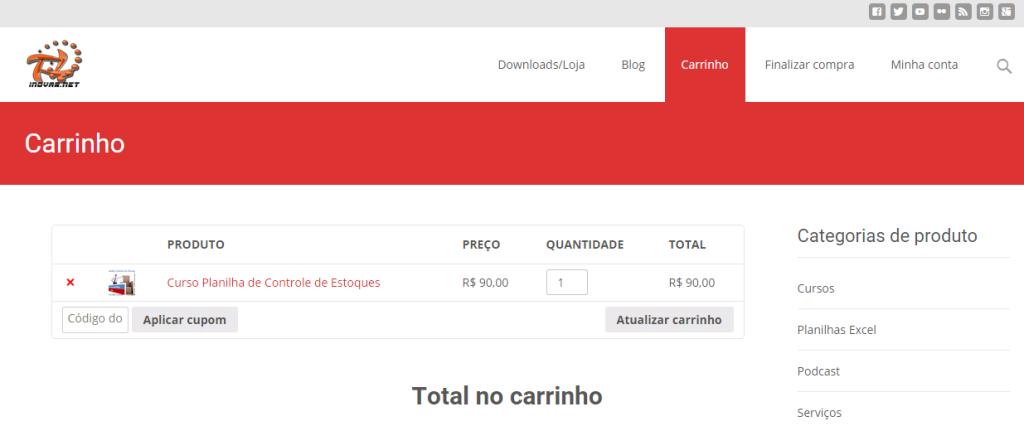 Carrinho   Loja Inovar.net